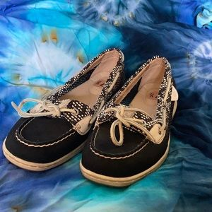 ⛵️Sperry  Mesh Moc Slip On Lace Up Boat Shoes